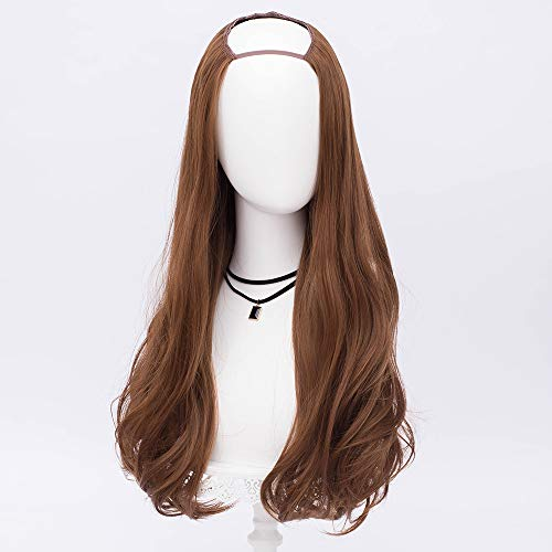 Alacos Half Wigs 68cm Long Curly Anime Cosplay Halloween Party Wigs for Women (Flaxen Brown) ()