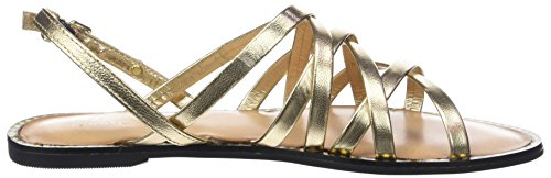 Metallic Mekong Femme Tommy Sandal Hilfiger Or Bride Strappy Flat Cheville 709 1cf5RTq