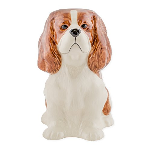 Cavalier King Charles Spaniel Shaped Ceramic Stoneware Hand Painted Coin Bank Cavalier King Toy
