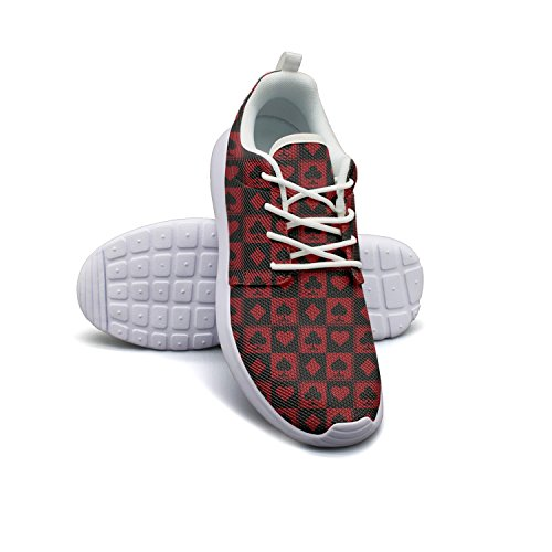 SHTAIYESY Casinos And Poker Mens Fashion Athletic Running Sneaker Lightweight Mesh Breathabl Basketball Shoes ()