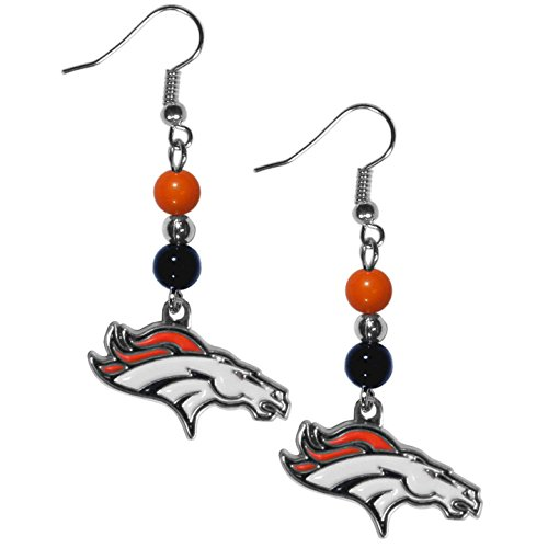 NFL Denver Broncos Fan Bead Dangle Earrings