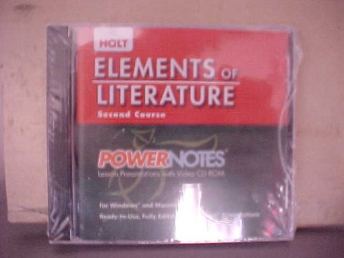 PowerNotes Lesson Presentations (Elements of Literature, Grade 8, 2nd Course)