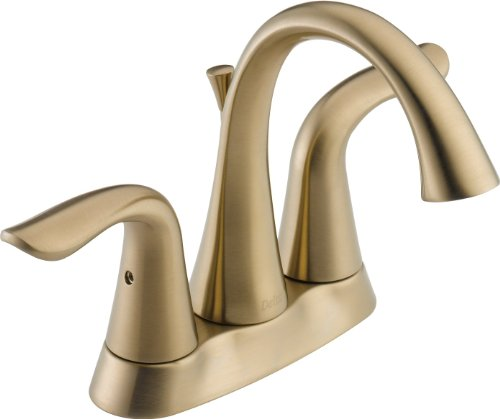 - Delta Faucet Lahara 2-Handle Centerset Bathroom Faucet with Diamond Seal Technology and Metal Drain Assembly, Champagne Bronze 2538-CZMPU-DST