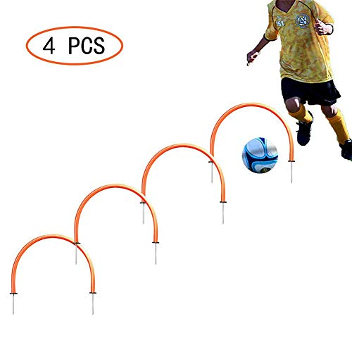 Soccer Training Passing Arches - Team Activity to Exercise Football Passing Arcs - Build Up Reflective Ability;Precision;Speed;Agility - Set of 1/4/6/8 Pack