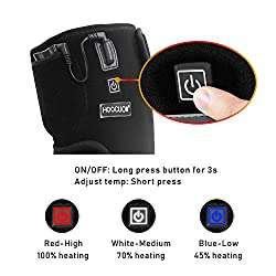 HOOCUCO Heated Knee Brace Wrap Support, Wireless Portable Rechargeable Infrared Knee Heating Pad for Knee Injury, Cramps Arthritis Recovery, Torn Meniscus, Muscles Pain Relief, for Men Women