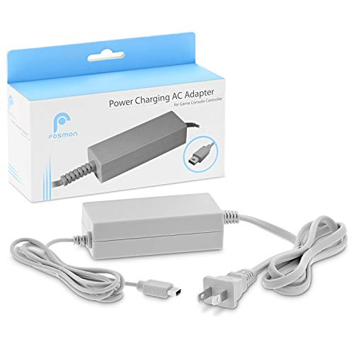 Fosmon [ETL Listed] Wii U Gamepad Charger - 2019 Upgrade Power AC Charging Adapter Cable for Nintendo Wii U Gamepad