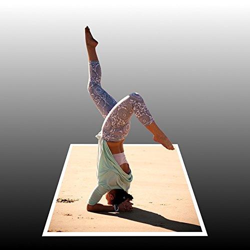 Home Comforts Framed Art for Your Wall Summer Limber Woman Sun Handstand Beach Sporty 10x13 Frame