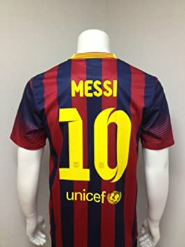 e3409973b LIONEL MESSI  10 BARCELONA HOME SOCCER FOOTBALL SHIRT 13 14 (M ...