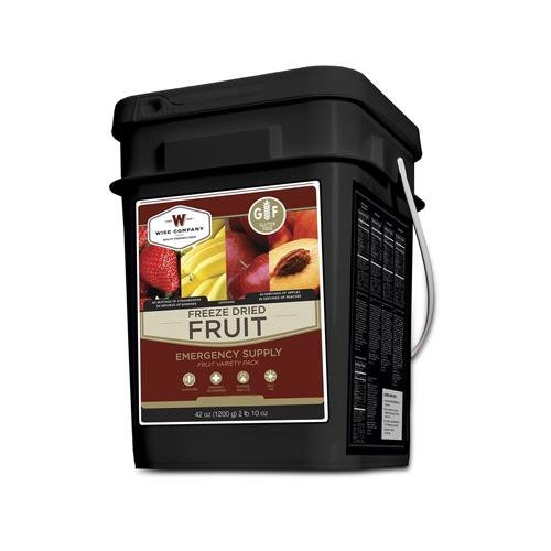 Wise Foods 156 Servings Gluten Free Freeze Dried Fruit, Black