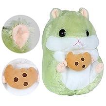 Cuddly Hamster Stuffed Animal Doll 10 Inch,Kosbon Soft Mouse Toy Children's Pillows Cushion Plush Doll For Xmas Christmas Wedding Presents Gift,Graduation Valentine's Day Birthday (Green)