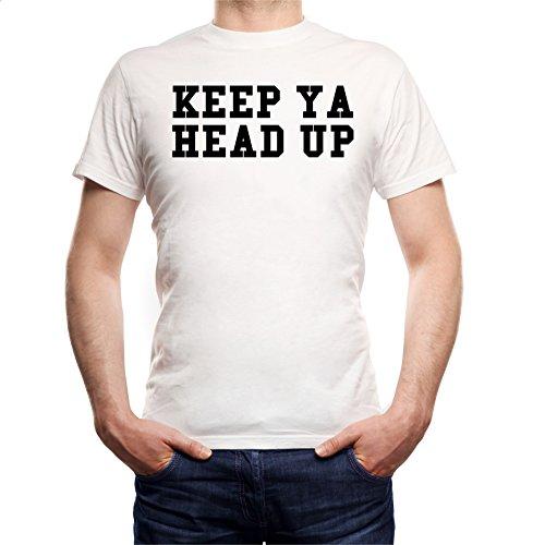 Keep Ya Head Up T-Shirt Bianco