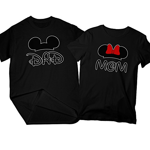 b924c730 Dad & Mom | Matching Couple Shirts, His and Her T-Shirt – Couple Gift