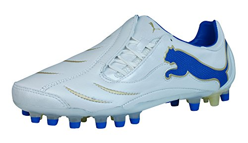 Blanc en White 10 Football de Puma PowerCat 2 Synth Chaussures Homme Grass Cuir pHf1A