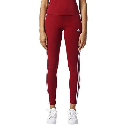 adidas Originals Women's Bottoms 3 Stripes Leggings, Collegiate Burgundy, X-Large Burgundy Stripe