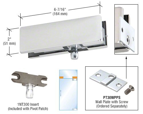DORMA Polished Stainless Wall Mounted Transom Patch Fitting With Pivot