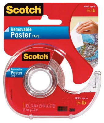 Scotch Brands 3M 109 Wallsaver 3/4 x 150-Inch Removable Poster Tape - Quantity 6