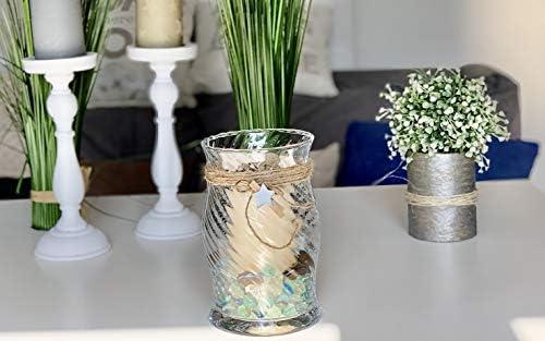 Color Blanco y Negro dise/ño de Flores Kubus Jarr/ón de Cristal 20 cm