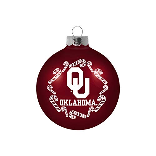 Topperscot Oklahoma Sooners Official NCAA Holiday Christmas Ornament Glass Ball 913428 ()