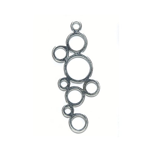 - Amoracast Sterling Silver Charm Bubbles 15x39mm, 15 x 39mm
