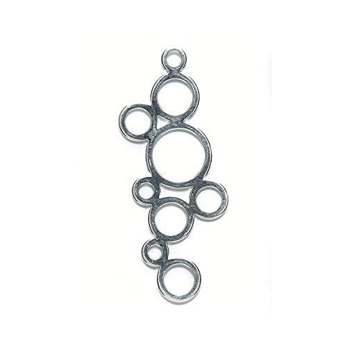 Amoracast Sterling Silver Charm Bubbles 15x39mm, 15 x 39mm
