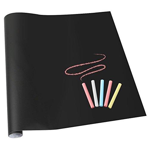 "Safe Markerboard (Peel Stick Blackboard | Set of 17.7"" x 78.7"" Restaurant Chalkboard and 10 Chalk | Adhesive Sticky Backside for Repeated Use | PVC Portable Safe for Children Blackboard | 1591)"