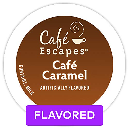 (Café Escapes Café Caramel, Single Serve Coffee K-Cup Pod, Flavored Coffee, 72)