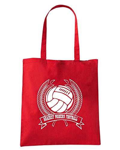 T-Shirtshock - Bolsa para la compra TUM0197 against modern football Rojo