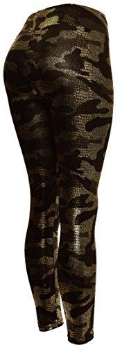 Womens-Metallic-Silked-Patterned-Leggings