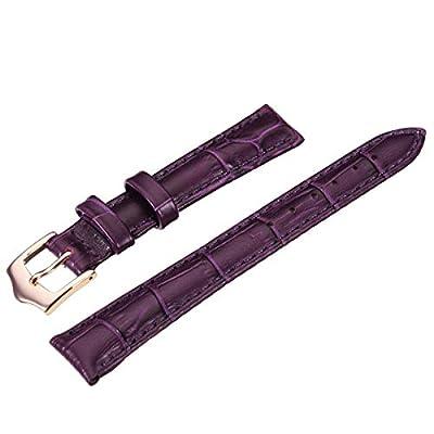 PU Leather Purple Women Wrist Watch Band.