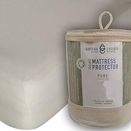 Amazon.com: Certified Organic Cotton Mattress Protector Mattress ...