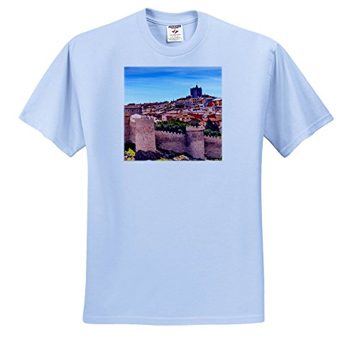 Light Castile 3 (Danita Delimont - Cities - Walls Around The Ancient Medieval City Of Avila, Castile, Spain. - T-Shirts - Youth Light-Blue-T-Shirt XS(2-4) (TS_257899_59))