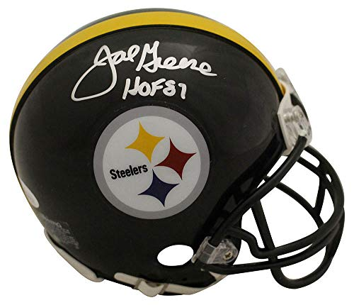 Joe Greene Autographed/Signed Pittsburgh Steelers Mini Helmet HOF JSA