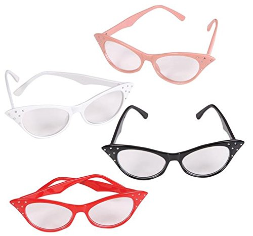 4 pair RETRO CATEYE glasses