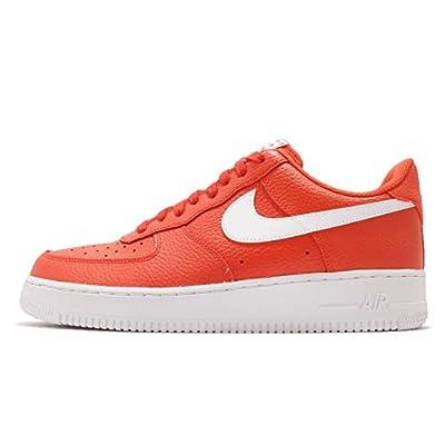 Nike Men's Air Force 1 07, Team Orange/White