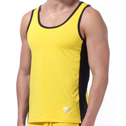 Men Athletic Tank Top Size S Color Yellow