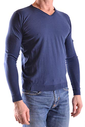 Fred Mello Mcbi27480 Suéter Algodon Azul Hombre 6Prq6Hwx
