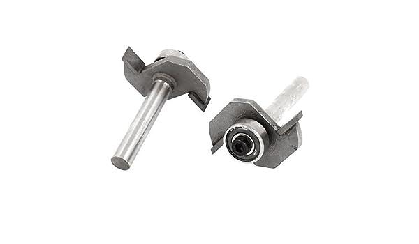 1/4 pulgadas de diámetro caña 3/16 pulgadas de profundidad de Corte Rabbet Router Bit 2 piezas: Amazon.com: Industrial & Scientific