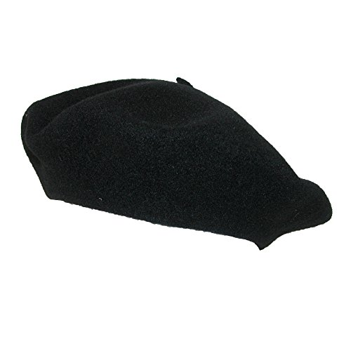 Betmar Women's Wool French Beret Hat, Black