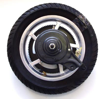 Mag Rear Wheel Assembly for Currie Scooters (incl Sprocke...