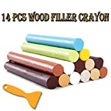 kitchen paint colors with maple cabinets Furniture Repair Kit Wood Filler - 14 Colors+1 Scraper - Wax Stick Crayons for Scratches, Nail Hole, Wood Floors, Tables, Desks, Carpenters, Bedposts
