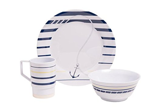 Galleyware Newport Melamine 12 Piece Dinnerware Set
