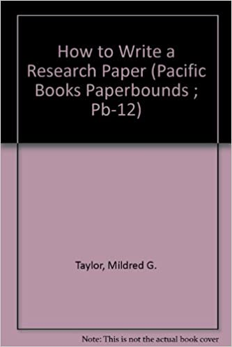 AmazonCom How To Write A Research Paper Pacific Books Paperbounds