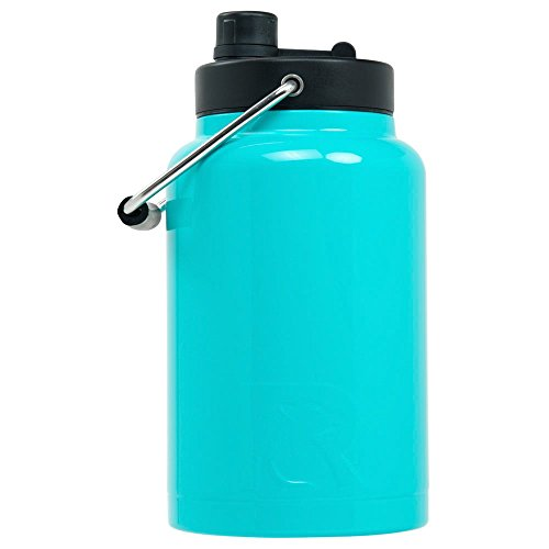 RTIC Double Wall Vacuum Insulated Stainless Steel Jug (Teal, Half Gallon)