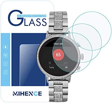 [ 3Pack ] Mihence for Fossil Womens Gen 4 Q Venture HR Smartwatch Tempered Glass Screen Protector, 2.5D Rounded Edges 9H Premium Real Screen ...