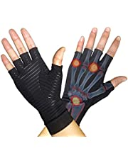 Newmeil Copper Arthritis Golves Recovery Gloves (1 pair) supporting Arthritis Compression, Pain relief of RSI, rheumatoid arthritis Carpal tunnel, Great for joints when Sports, Housework, Dailywork and computer typing, suggested 88% Copper Compression Gloves