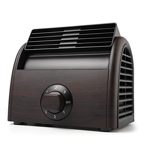 POOCCI Desk Fan Mini Classic Personal Vintage Air Circulator Fan Table Cooling Turbo Fan for Home Office AC Powered