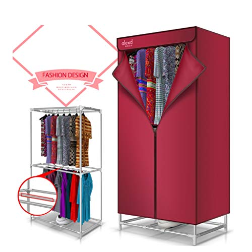 YXGH@ 900W household double-layer dryer mute energy-saving electric drying rack multi-function wardrobe with heater automatic timer, quick installation Dryer