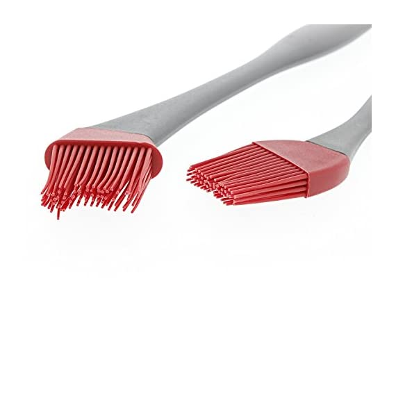 "Yukon Glory Pastry Brush, Professional Grade Heat Resistant Silicone Basting Brush - Set of 2 - Pastry Brush For Cooking, Grilling and Basting 5 HEAVY DUTY-The silicone basting brush set is the new generation of kitchen utensils. It's a great gift for home chefs and culinary enthusiasts. The pastry brush set includes one 15"" brush, one 8"" brush and a 3-year warranty EASY TO CLEAN- The basting brush premium silicone head is heat resistant up to 500° F. Its comfortable handle is easy to control at all angles and the angled head helps maneuver around pastry corners. Easy to clean - Dishwasher safe too! ALL USES- Silicone pastry brushes work like real bristle brushes. They hold sauces, glazes and other liquids evenly to distribute ingredients smoothly for efficient basting on delicate recipes. Use for baking, barbecue or crafting projects."
