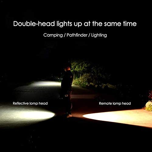Aycpg Super Bright 100000LM Double Head Handheld LED Spotlight Flashlight Searchlight Waterproof Rechargeable Floodlight LED Work Light Outdoor Hiking Camping Lantern