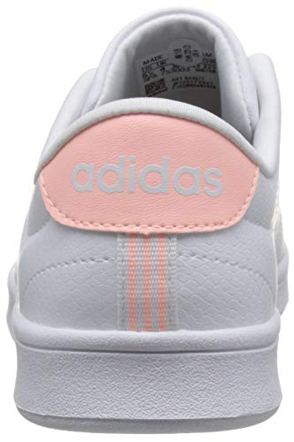 Clear QT White Sneaker Damen Advantage Footwear Footwear Orange adidas 0 White Weiß Clean wqv1twnfC